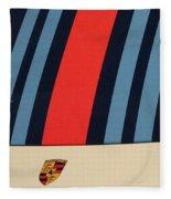 Martini Porsche Fleece Blanket