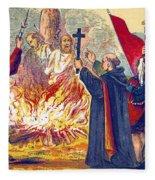 Martyrdom Of Ridley And Latimer, 1555 Fleece Blanket