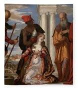 Martyrdom Of Saint Justina Fleece Blanket