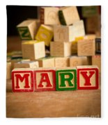 Mary - Alphabet Blocks Fleece Blanket