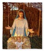 Mary And Baby Jesus Fleece Blanket