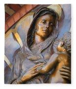 Mary And Jesus Fleece Blanket