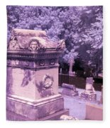 Mary And John Tyler Memorial Near Infrared Lavender And Pink Fleece Blanket