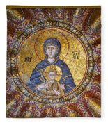 Blessed Virgin Mary And The Child Jesus Fleece Blanket