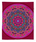 Mary Grace Mandala Fleece Blanket