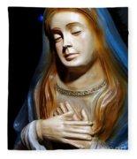 Mary In Manger Fleece Blanket