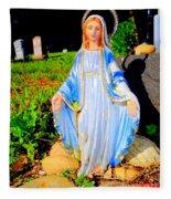 Mary In Sunlight Fleece Blanket