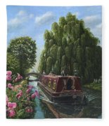 Mary Jane Chesterfield Canal Nottinghamshire Fleece Blanket