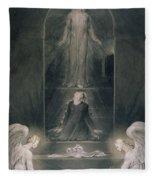 Mary Magdalene At The Sepulchre Fleece Blanket