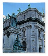 Mary Queen Of The World Cathedral - Side View In Hdr Fleece Blanket