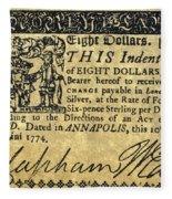 Maryland Bank Note, 1774 Fleece Blanket