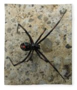 Maryland Black Widow Fleece Blanket