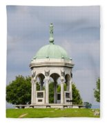 Maryland Monument - Antietam National Battlefield Fleece Blanket
