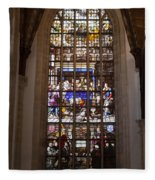 Mary's Deathbed Religious Art In Oude Kerk Fleece Blanket