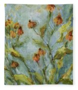 Mary's Garden Fleece Blanket