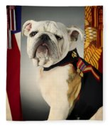 Mascot Of The United States Marine Corps Fleece Blanket