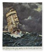 Masefield Sea Fever, 1902 Fleece Blanket