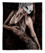 Mask And Lace Fleece Blanket