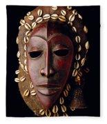 Mask From Ivory Coast Fleece Blanket