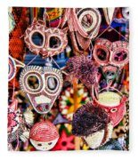 Mask Me In El Casco By Diana Sainz Fleece Blanket
