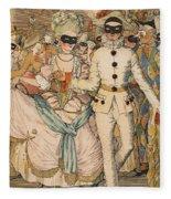 Masked Ball Fleece Blanket