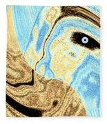 Masked- Man Abstract Fleece Blanket