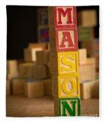 Mason - Alphabet Blocks Fleece Blanket