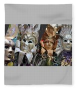 Masquerade Craziness Fleece Blanket
