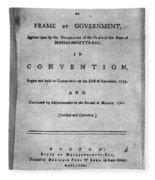 Massachusetts Constitution Fleece Blanket