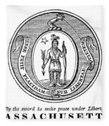 Massachusetts State Seal Fleece Blanket