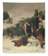 Massacre Of Glencoe, 1883-86 Fleece Blanket