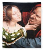 Massays' Ill Matched Lovers Or Badly Matched Lovers Fleece Blanket