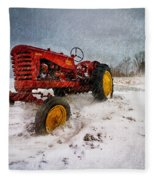 Massey Harris Mustang Fleece Blanket