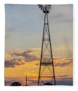 Massey Windmill Silhouette Fleece Blanket