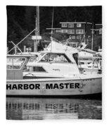 Master Of The Harbor Fleece Blanket