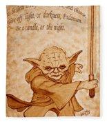 Master Yoda Wisdom Fleece Blanket