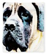 Mastif Dog Art - Misunderstood Fleece Blanket