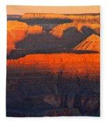 Mather Point Sunrise Grand Canyon National Park Fleece Blanket