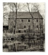 Mather's Grist Mill Fleece Blanket