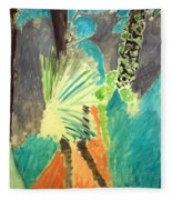 Matisse's Palm Leaf In Tangier Fleece Blanket