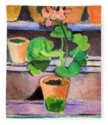 Matisse's Pot Of Geraniums Fleece Blanket