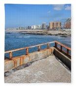 Matosinhos City Skyline In Portugal Fleece Blanket