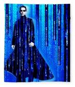 Matrix Neo Keanu Reeves 2 Fleece Blanket