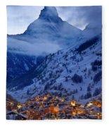 Matterhorn At Twilight Fleece Blanket