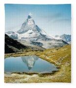 Matterhorn Cervin Reflection Fleece Blanket
