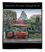 Matterhorn Mountain Disneyland Collage Fleece Blanket