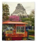 Matterhorn Mountain With Hot Popcorn At Disneyland 01 Fleece Blanket