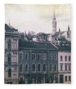 Matthias Church And Vizivaros Fleece Blanket