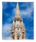 Matthias Church Bell Tower In Budapest Fleece Blanket