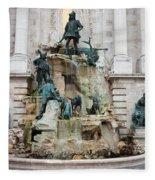 Matthias Fountain In Budapest Fleece Blanket